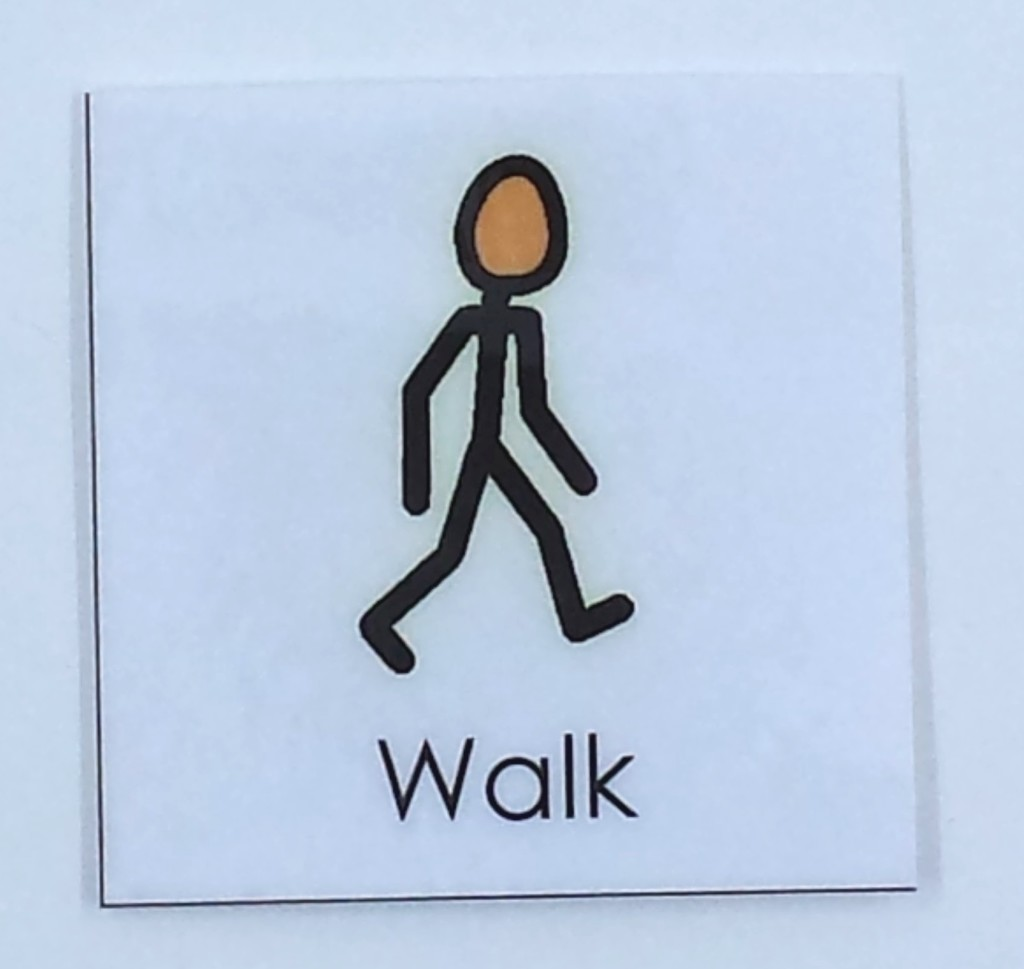 autism visual support walk icon