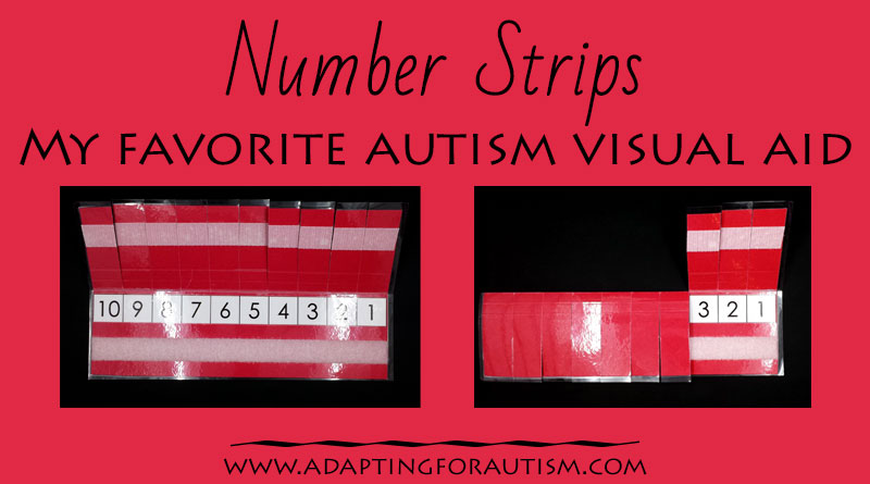 Autism Visual Supports: Number Strip