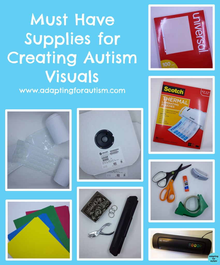 Autism Visual Support Series Supplies Adapting For Autism