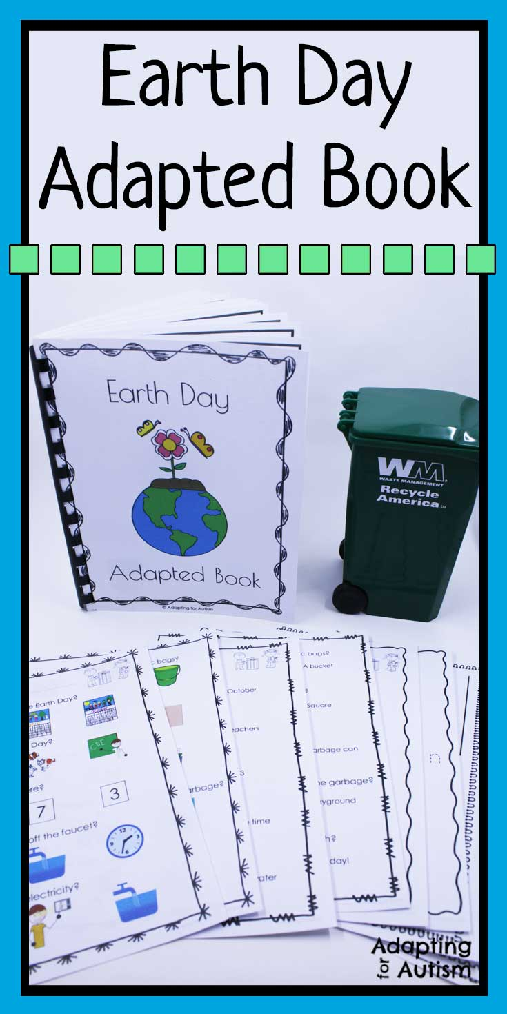 Learn about Earth Day in your special education classroom with this adapted book and comprehension worksheets. Includes visual supports and differentiated worksheets ideal for students with autism.