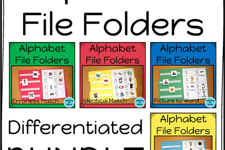 Alphabet File Folder Tasks for Everyone in your SpEd Class!