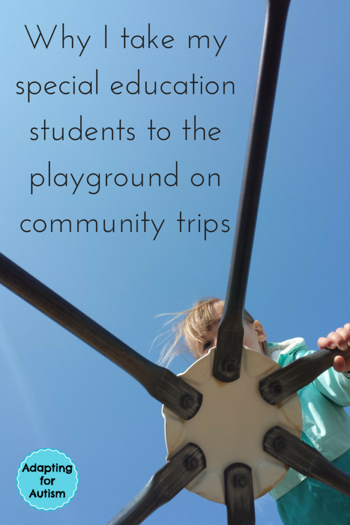 Special Education Community Trips to the Playground