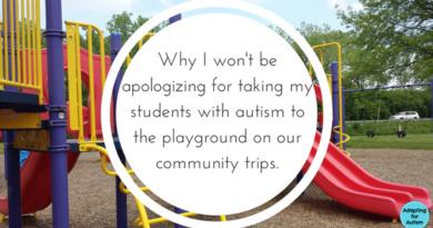 autism community trip playground
