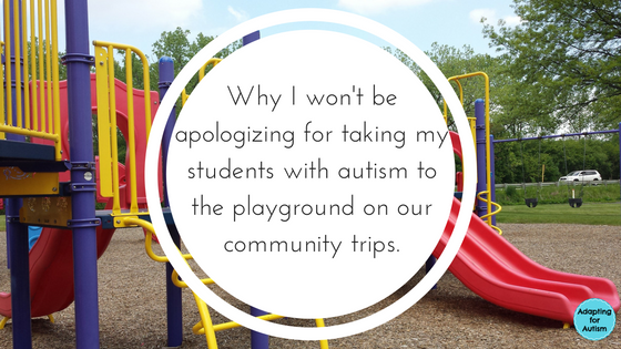 Community trips to the playground and why it's ok