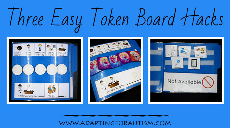 photograph about Token Board Printable identified as Token Board Hacks - Adapting for Autism