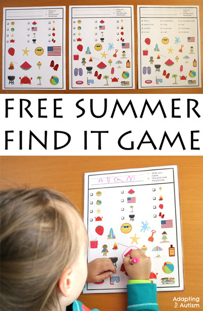 Free Summer-Find-It-Adapted-Games