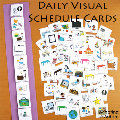 Visual schedules autism and special education