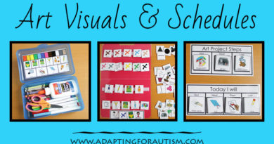 Use visual supports and schedules in art to support students with autism. Reduce anxiety and frustration with these art class visuals.