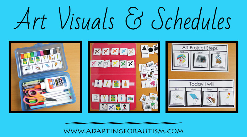 Art Visuals and Schedules for Autism