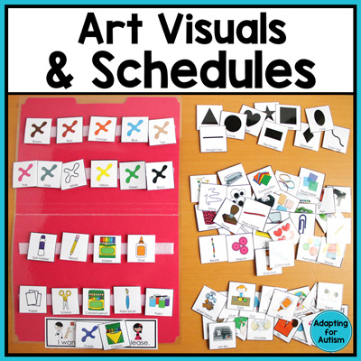 Use visual supports and schedules to add structure and routine to your adapted art classes!