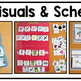 Use schedules and visual supports to add structure to your adapted art class.