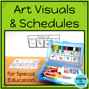 Use visual aids and schedules in art to support your students with autism.