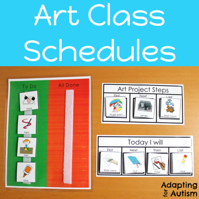 Use schedules for art projects in special education classrooms.