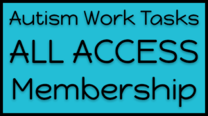 Autism Work Tasks Membership Course Card