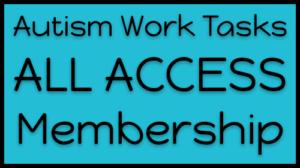 Autism Work Tasks Membership Course Card