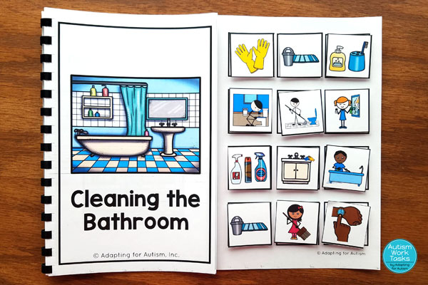Cleaning the bathroom adapted book
