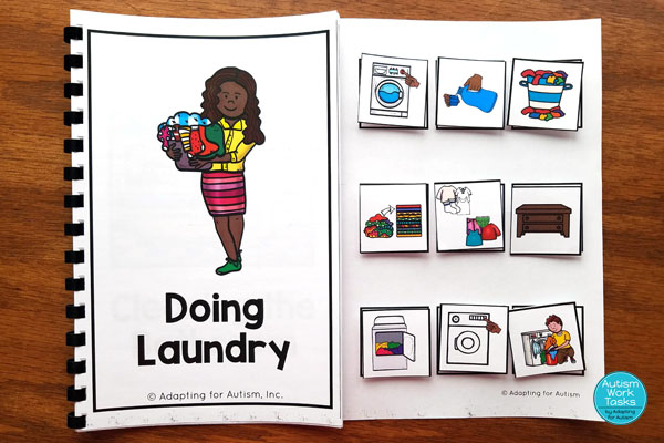 Doing laundry sequencing adapted book