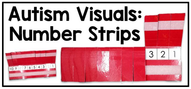 Autism visual support: number strip | Adapting for Autism