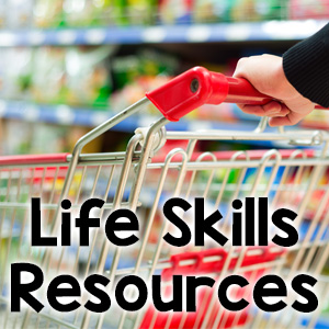 life skills resources for special education - Photo: hands pushing shopping cart with text life skills resources