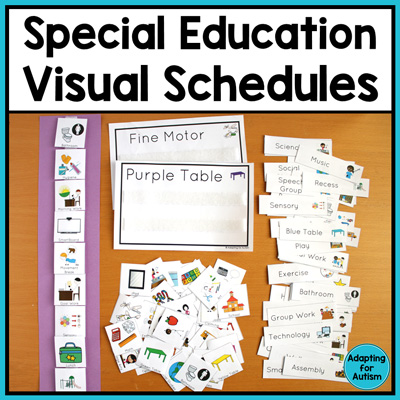 Visual schedules for special education and autism classroom | Adapting for Autism