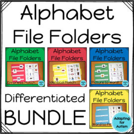 Autism work tasks - alphabet file folders