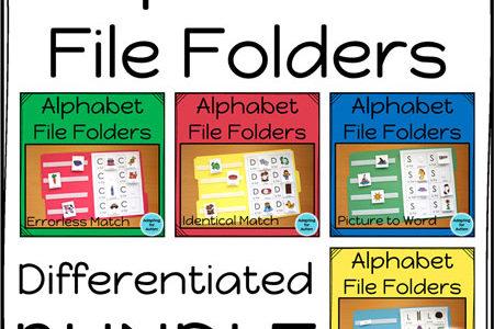 Autism work tasks - alphabet file folders