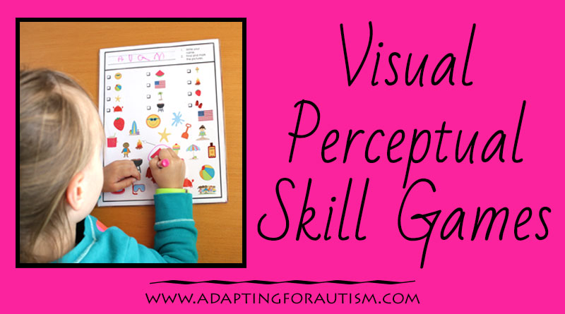 Visual perceptual skills are important for early learning. Grab free visual discrimination games for work tasks in your special education classroom.