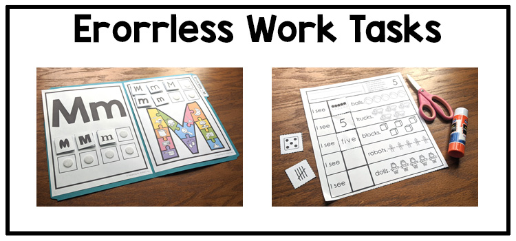 Errorless Learning Activities in Special Education Classrooms